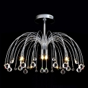 Add Eye-catching Flushmount Ceiling Light with Graceful Scrolling Arms and Little Crystal Balls