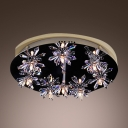 Contemporary Crystal Flushmount Ceiling Light Offers Great Choice for Bedrooms and More
