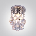 Contemporary Style Crystal Beads and Balls Falling Foyer Light Flush Mount Lights