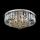 Brilliant Design Round Flush Mount Lights Hanging Crystal Prisms and Spheres