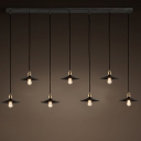 Industrial Black 7 Light Multi Light Pendant Light Indoor Lighting Pendants