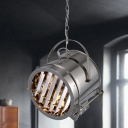 Elegant 1 Light Chrome LED Close to Ceiling Pendant in Chrome Finish