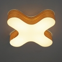 Wooden Capital X Novel Close To Ceiling Light