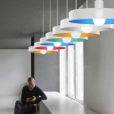 "Colorful and Beautiful Rounded Disc Designer Pendant Lighting in 13.7""Wide"