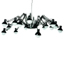 Spider Ceiling Chandelier Perfect for Cool Interior Decoration 15 Lights in Black