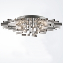 Blooming Large LED Bar Flower Shape Modern  Close to Ceiling Light