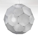 Silver Globe Diamond  Etch Shade Pendant Light