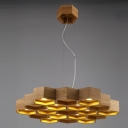 "29.5""Wide 12-Light Large Honeycomb Shaped Designer Pendant Light"