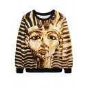 Egypt Queen Print Gold Sweatshirt