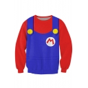 Super Mario Uniform Print Sweatshirt