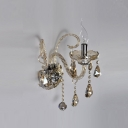 Splendid Candelabra Style Wall Sconce Featured Lead Hand-cut Crystal and Graceful Curving Arms