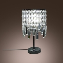 Clear Crystal Falls Becomes Main Focus of  Beautiful Table Lamp