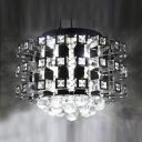 Crystal Accented Chrome Finish Frame Large Pendant Hanging Cluster of Crystal Balls