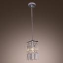 Smaller Chandelier Offers Every Bit of  Glamour and Brilliance with Delicate Square Crystals