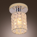 Burnished Silver Finish with Sparkling Crystals Make Semi-flushmount Ceiling Light Luxurious Accent