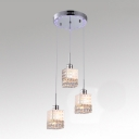 Multi-Light Completed with Graceful Clear Crystal Beads Creating Timeless Embellishment
