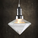 Glittering Diamond Mini Pendant Light in Bulb Style