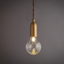 Bulb Shape Clear Glass Mini Pendant Light
