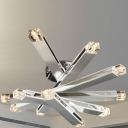 LED Modern Close To Ceiling Light Chrome Finished 12-Light