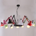 Streching Arms Colorful 12-light Spider by Designer Lighting