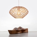 Creative Wood Designer Large Pendant Light In Natural Style