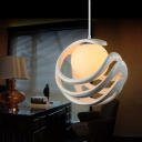 Fashionable Round Shaped Resin Made Pendant Light