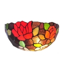 Single Light Hand-made Colorful Tiffany Glass Shade Fanciful Wallwasher