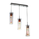 Underwater World Inspired Three Lights Multi-light Pendants with LED Lighted Crystal Shades