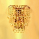 Splendid Wall Sconce Features Clear Crystal Balls and Graceful Scrolls