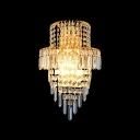 Lavish Wall Sconce Offers Stunning Statement with Strands of Crystal Beads