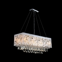 Delicate Texture and Custom-made Crystal Drops Make Pendant Light Brilliant Contemporary Accent