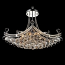 Luxurious Corona Chrome Finished Plentiful Small Crystal Globes Pendnat Lighting