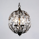 Contemporary Funky Pendant Light with Crystal Leaves Capture Light and Elegance Create Fun Atmosphere