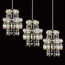 Grand Multi-Light Pendant Completed with Luxury Strands of Crystal Beads Made Welcomed Addition to Your Home Decoe