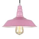 Pink Barn Style Pendant Lighting