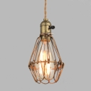 Bronze LED Mini Bulb Pendant Light in Vintage Loft Style