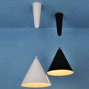 Designer Pendant Light Adjustable And Contemporary Wrought Iron Cone Shade