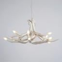 Antler 6-light Modern LED Chandelier Pendant Light