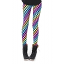 Colorful Plaid Print Spandex Pencil Leggings
