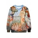 Bible Oil Painting Print Sweatshirt