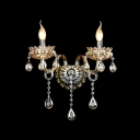 Luxury Elegant Crystal Wall Light Fixture Offers Delicate Plate and Glamourous Embelishment