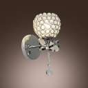 Dazzling Crystal and Chrome Make Wall Sconce Brilliant Addition to Your Home