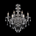 Classic Style Graceful Smoky Crystal Droplets Cascaded Chandelier