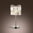 Modern Splendid Table Lamp Design with Charm and Square Crystal Detail