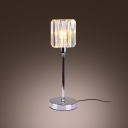 Faceted Crystals and Chrome Accent Create Clean Table Lamp Design