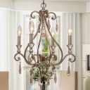 Four-light Wrought Iron Chandelier Makes Impressive Statement in Your Home