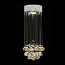 Crystal Shower Chandelier Suspended Cluster of Stunning Crystal Balls