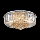 Plentiful Stunning Crystal Balls Hang Together Elegant and Bold Flush Mount Lighting