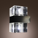 Special Design Two Light Wall Sconce Completed with Clear Crystal Shade Creating Ambient Light