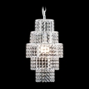 Crystal Beaded Strands Tired Single Light 16.9